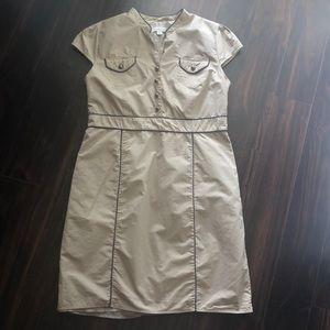 Merona Khaki / Navy Dress